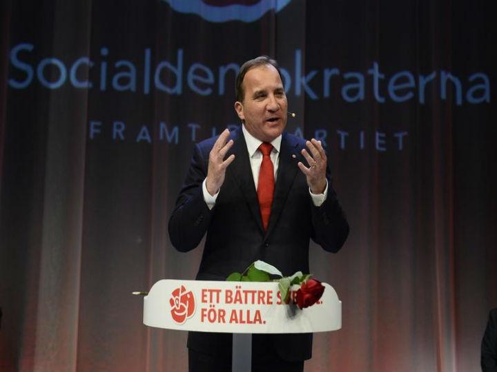 Stefan Lofven ganhou as eleições legislativas suecas, mas depende de uma coligação para obter a maioria (Reuters)