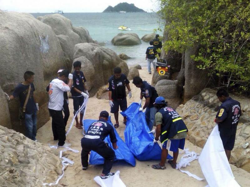 Dois britânicos mortos em praia da Tailândia [Foto: EPA]