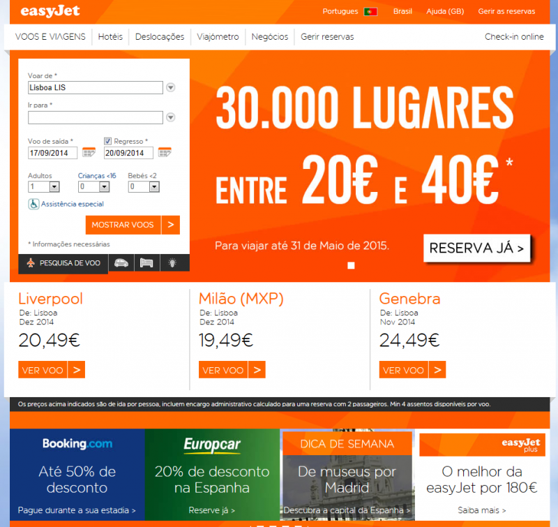 easyJet lança nova campanha promocional