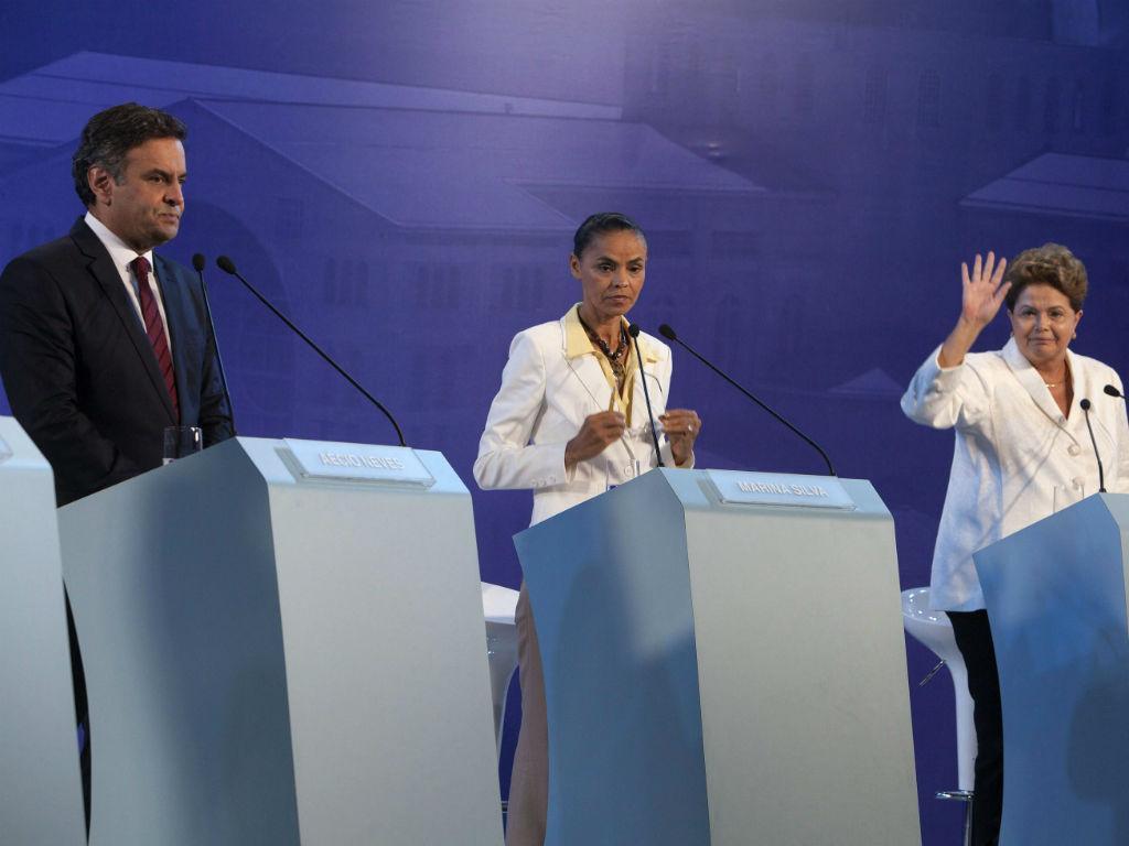 Aécio Neves, Marina Silva e Dilma Rousseff [Foto: EPA]