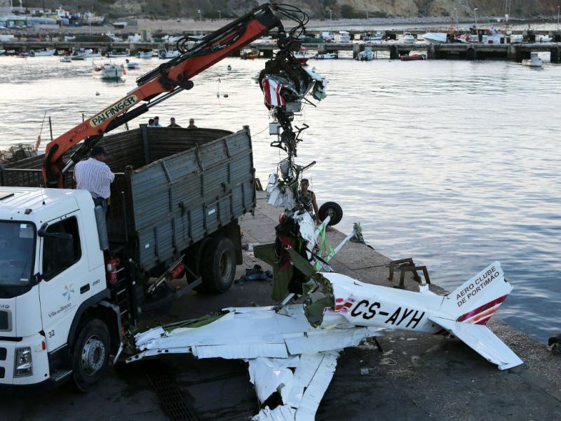 Aeronave caiu ao largo de Sagres [Foto: Lusa]