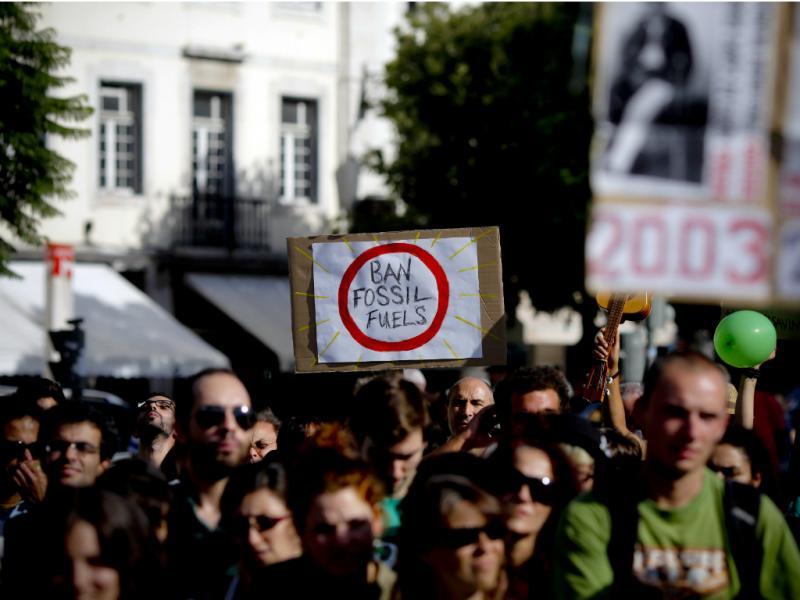 Manifestação contra aquecimento global em Lisboa [LUSA]