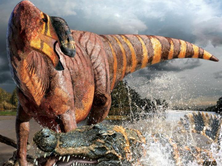 Nova espécie de dinossauro está a surpreender pelo seu grande nariz (NC State News/ Julius Csotonyi)