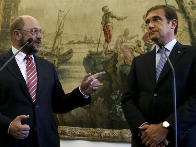 Passos Coelho e Martin Schulz (LUSA)