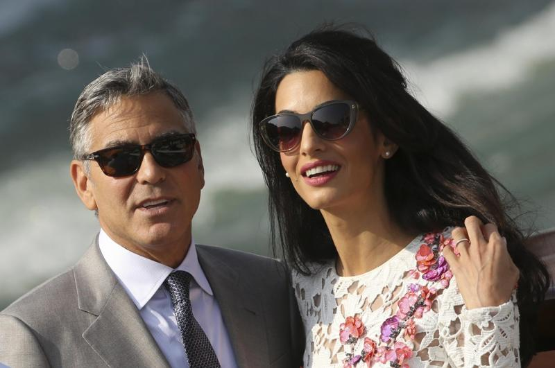 Primeiras imagens de George Clooney e Amal Alamuddin após casamento Foto: Reuters