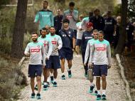 Treino de preparação da seleção nacional para o jogo contra a França (LUSA)