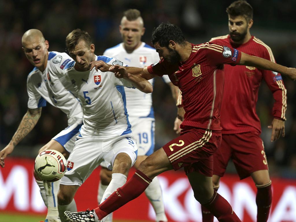 Eslováquia vs Espanha (REUTERS)