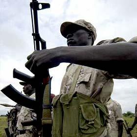 Soldados do Exército de Libertação do Povo Sudanês