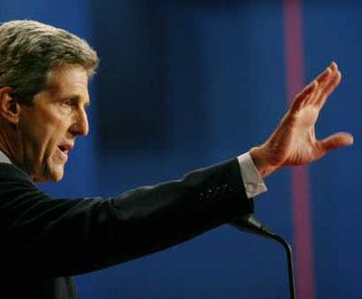 John Kerry em pleno discurso