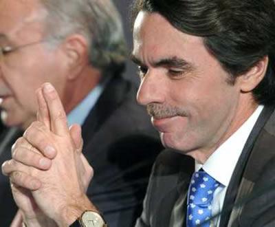 José Maria Aznar em conferência do Partido Popular espanhol, após o anúncio do cessar-fogo