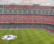 As bancadas de Nou Camp antes do jogo