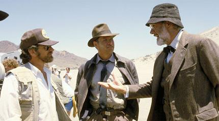 Steven Spielberg, Harrison Ford e Sean Connery
