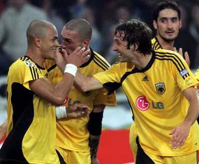 AEK vs Milan (EPA/ORESTIS PANAGIOTOU)