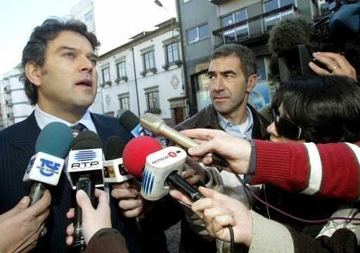 Ricardo Bexiga à entrada do DIAP (foto Estela Silva/Lusa)