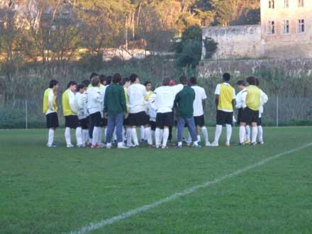 Estágio da selecção sub-16 no Estádio Nacional.