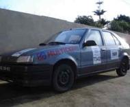 O carro já devidamente preparado para o rally