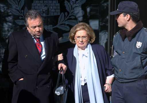 Teresa Costa Macedo à saída do tribunal (Foto João Relvas/Lusa)
