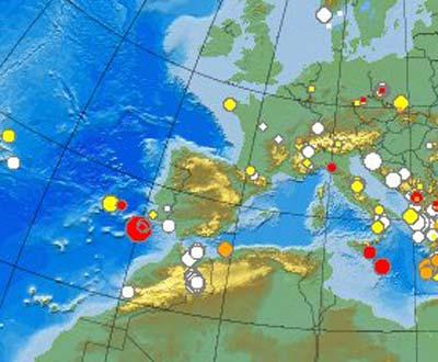Sismo em Portugal (Centro Sismológico Euro-Mediterrâneo)