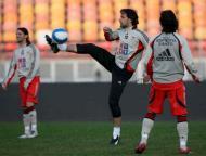 Último treino do Benfica em Bucareste