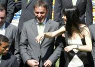 o treinador do Sporting, Paulo Bento e Fátima Lopes (foto Lusa)