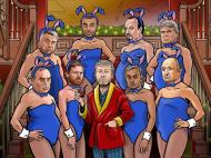Roman Abramovich e as suas coelhinhas, perdão, treinadores: Ancelotti, Di Mateo, Benítez, Hiddink, Avram Grant, Villas-Boas, Mourinho e Scolari