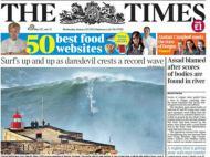 Foto tirada por «Tó Mané» a McNamara, na capa do «The Times»