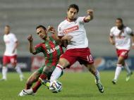 Ruben Ferreira (Marítimo) com Hugo Vieira (Sp. Braga)