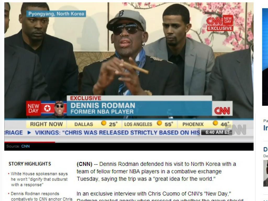 Denis Rodman furioso
