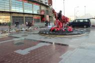 Obras na estátua de Eusébio [Foto: Benfica]