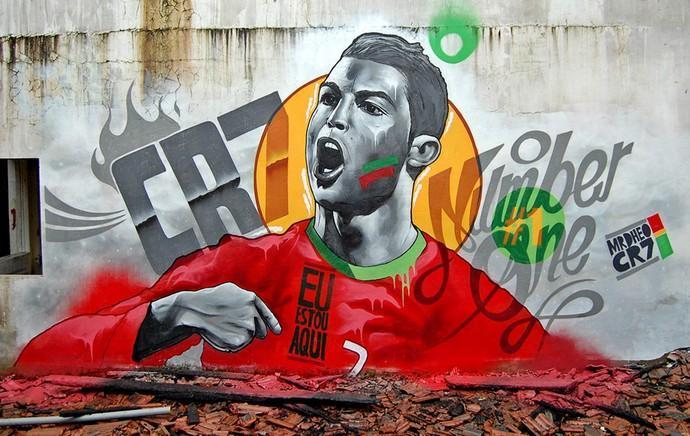 Graffitti de Cristiano Ronaldo [Foto: MrDheo]