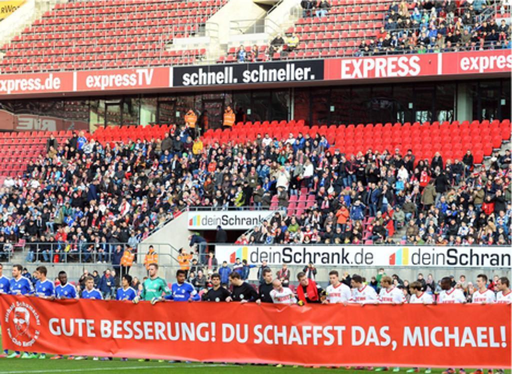 Mensagem de apoio a Schumacher