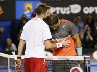 Wawrinka e Nadal (Made Nagi/EPA)
