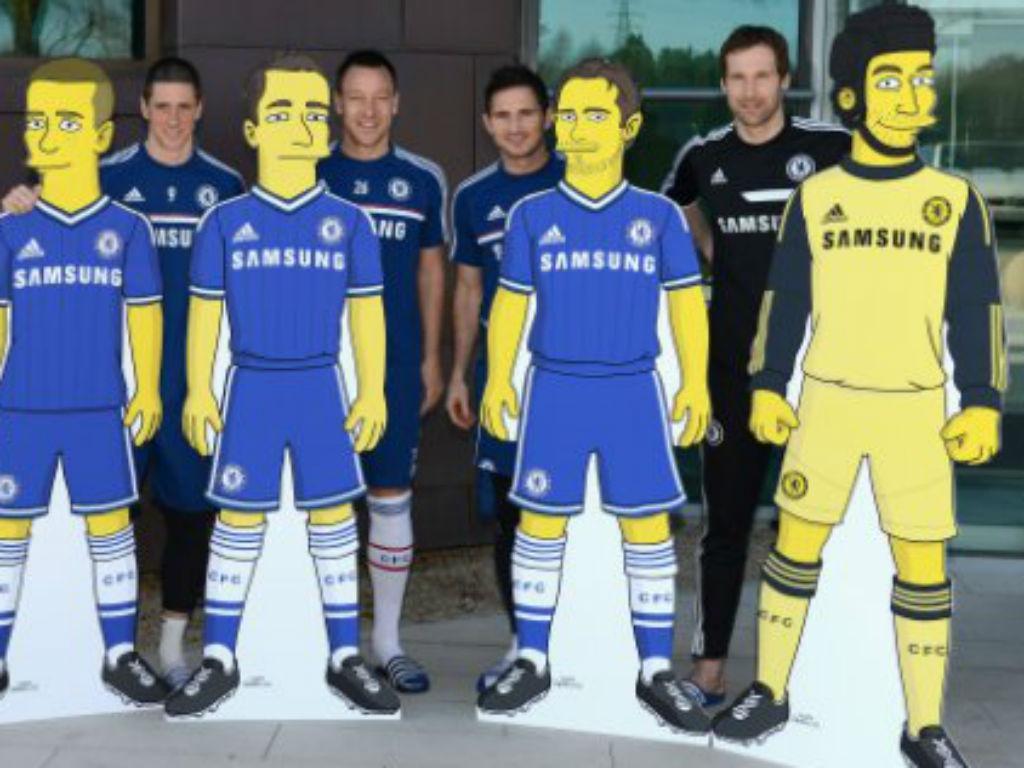 Jogadores do Chelsea transformados em Simpsons