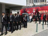 Plantel do Benfica no funeral da mãe de Luís Filipe Vieira