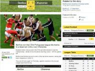 Benfica campeão: BBC (Inglaterra)