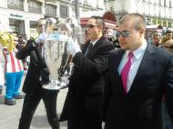 O troféu da «Champions» na Puerta del Sol