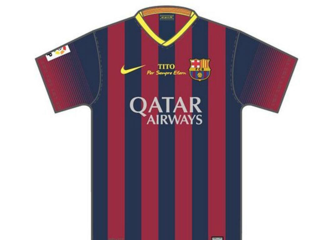Barcelona utilizará camisola com dedicatória a Tito Vilanova (fcbarcelona.cat)