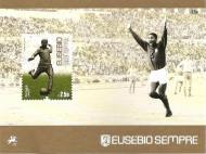 Eusébio homenageado em selos