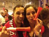 Diabólica na festa do Benfica campeão em Bruxelas