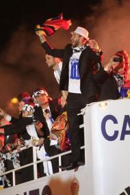 Festa do Real Madrid na Praça Cibeles