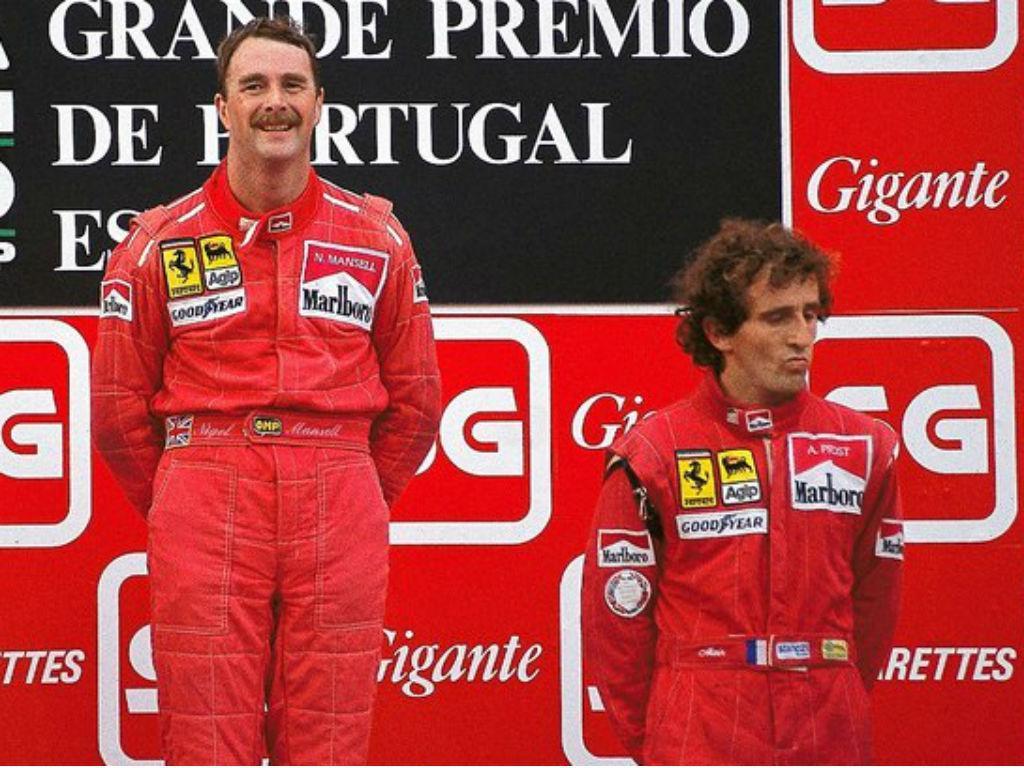 Nigel Mansell e Alain Prost