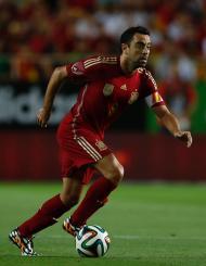 Xavi em ação pela Espanha