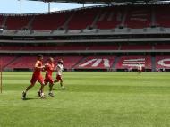 Lisandro López, Lima e Hugo Oliveira (foto Benfica)