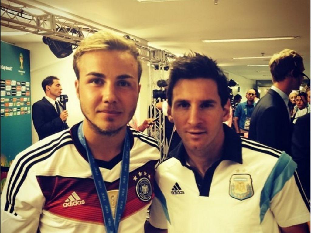 Gotze e Messi (Instagram de Gotze)