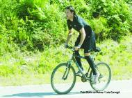 Fernando Alexandre de bicicleta para o treino