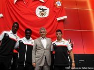 Thierry Graça, Estrela e Rafael Ramos com Luís Filipe Vieira (Foto: facebook de Rafael Ramos)