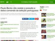 Saída de Paulo Bento: «Globo» (Brasil)