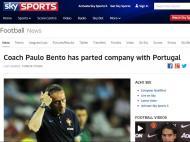 Saída de Paulo Bento: «Sky Sports» (Reino Unido)