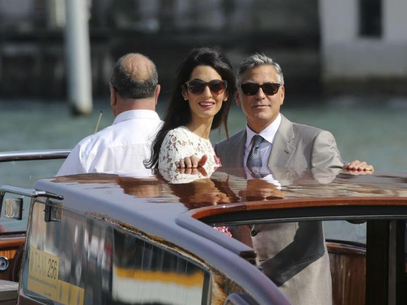 Primeiras imagens de George Clooney casado (REUTERS)