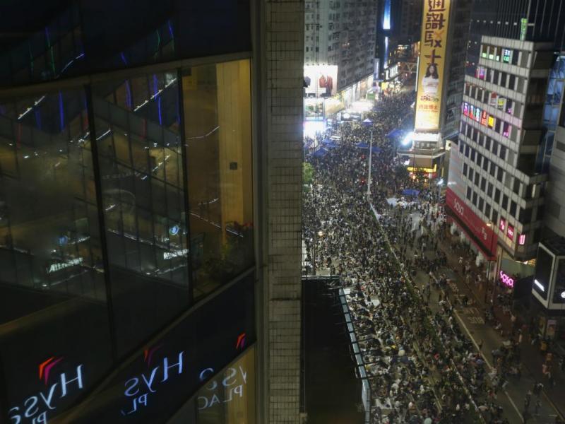 Manifestações em Hong Kong [Reuters]